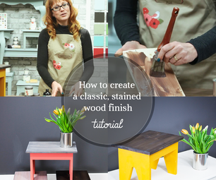 How to Create a DIY Dark Wood Stained Finish on Furniture