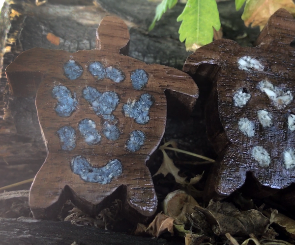Turtle Pendants With Stone Inlay