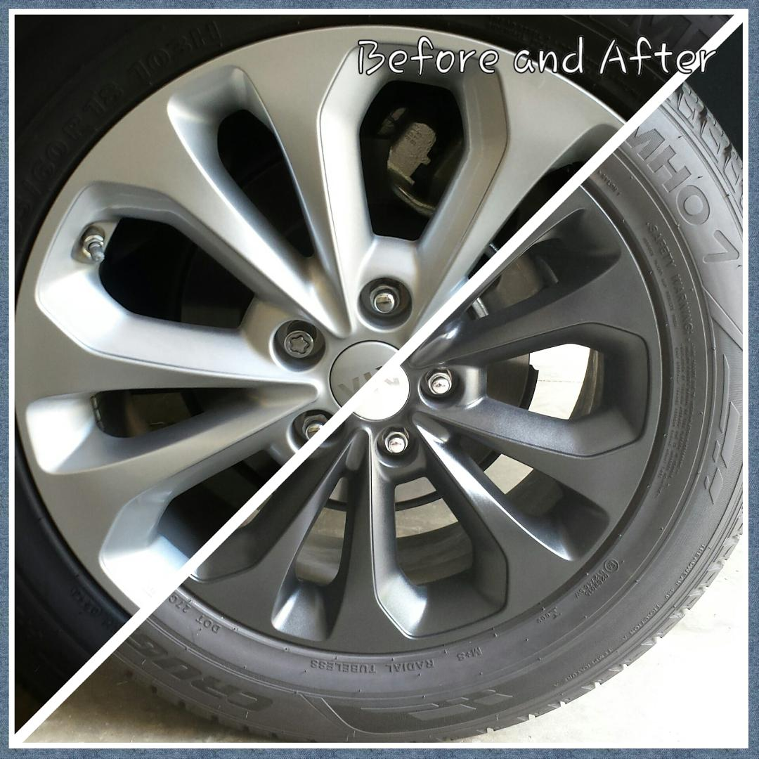 Dip your rims while still on vehicle.