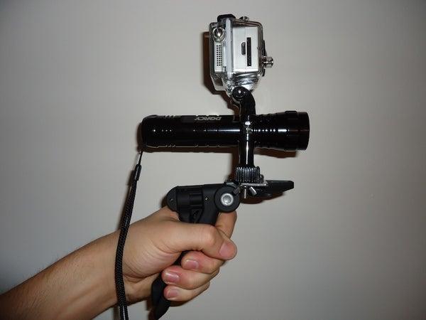 GoPro + Scuba Light + Hand Grip Mount