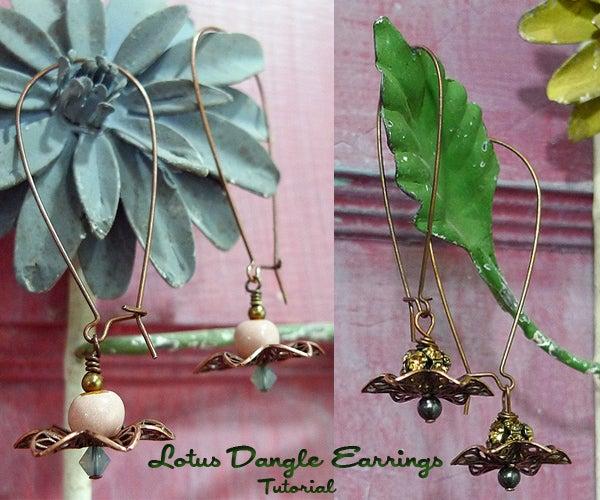 Lotus Dangle Earring