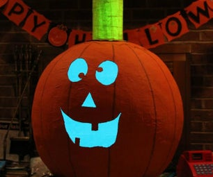 The Great LED Light Bulb Pumpkin