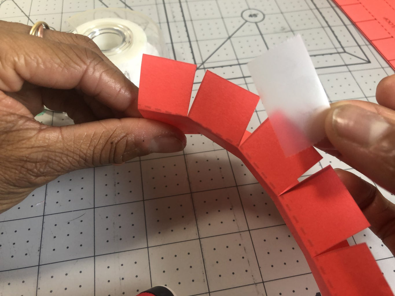Tape Tabs to Hold It in Place.