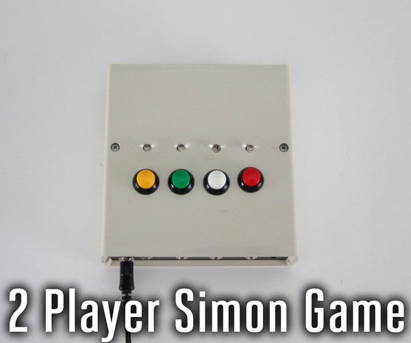 Two Player Simon Memory Game With External Switches