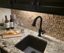 Recycled Cork Backsplash