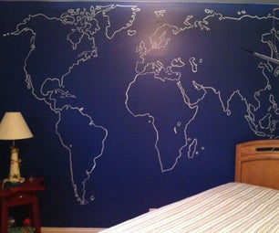 Map of the World on a Wall