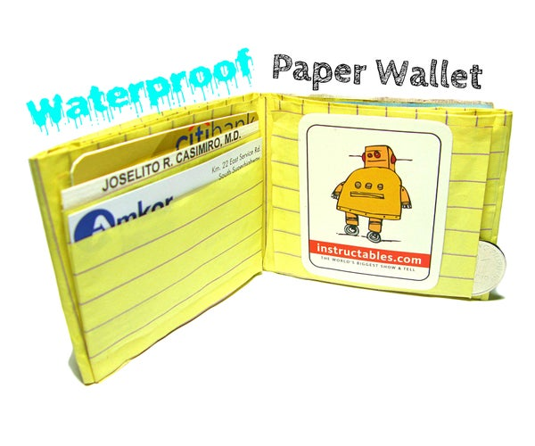 Waterproof Paper Wallet