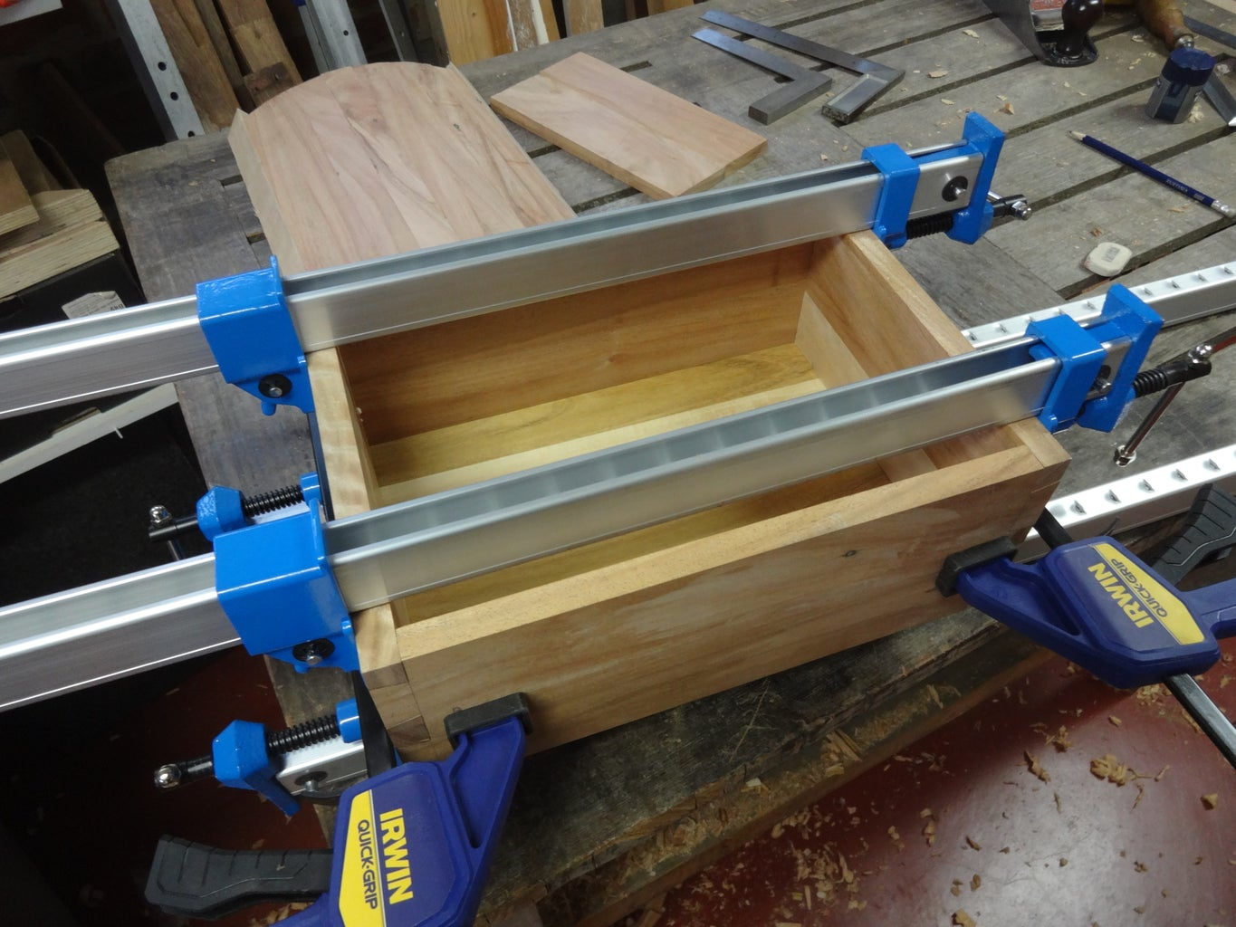 Gluing Up the Box and Plugging Pin Holes