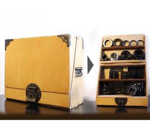 相机显示盒,带集成充电器和读者