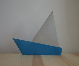 Origami. How to Make a Paper Sailer