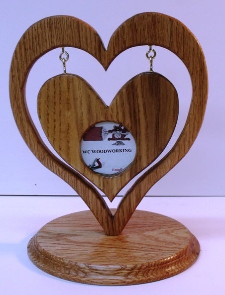 Heart in Heart Picture Frame + Bandsaw Circle Jig Plan