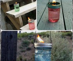 Bug Repellent Jar Torches