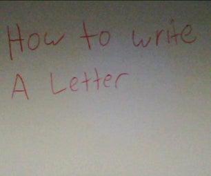 如何写一封信