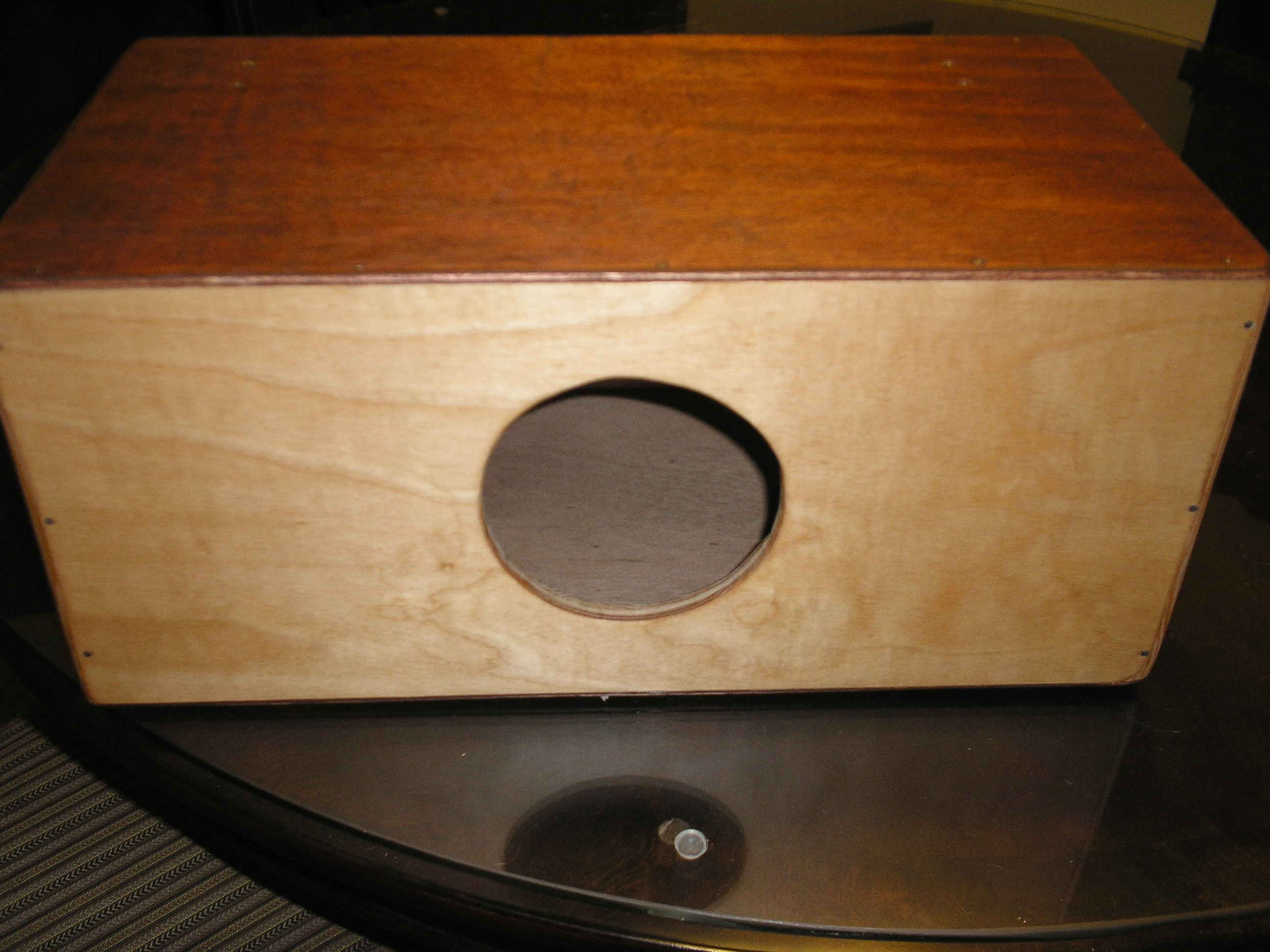 How to make a two sided cajon with snare