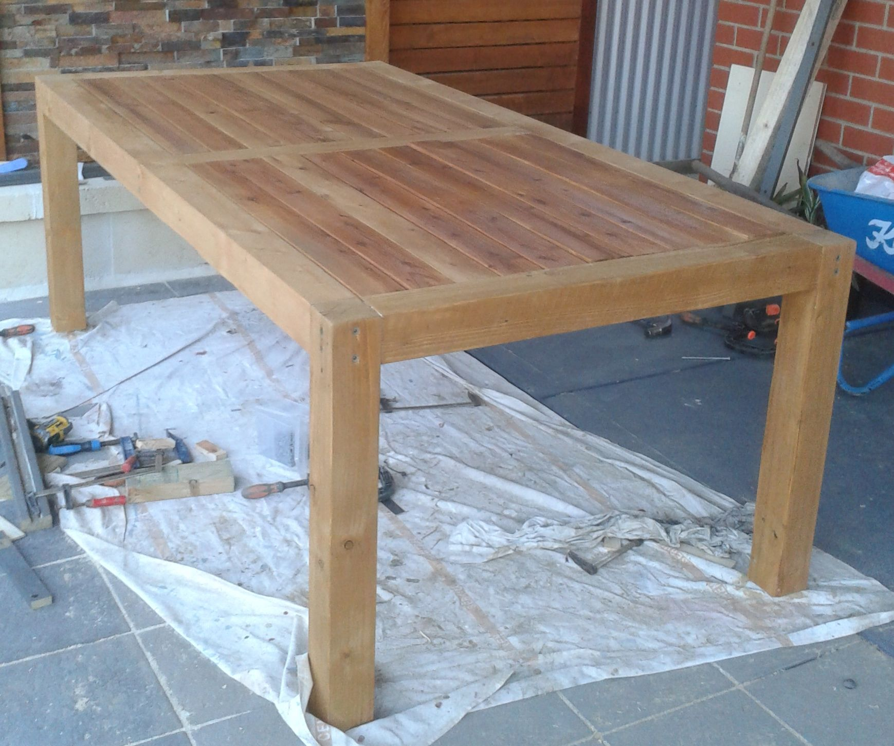 Outdoor Table From Recycled Timber