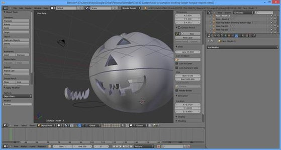 Modeling - Carving the Facial Features