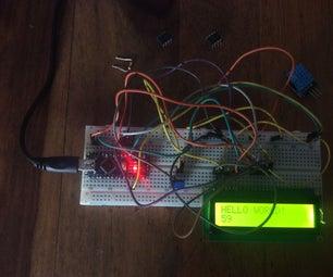 "How to Make ""HELLO WORLD' on a LCD Display(Arduino Nano)"