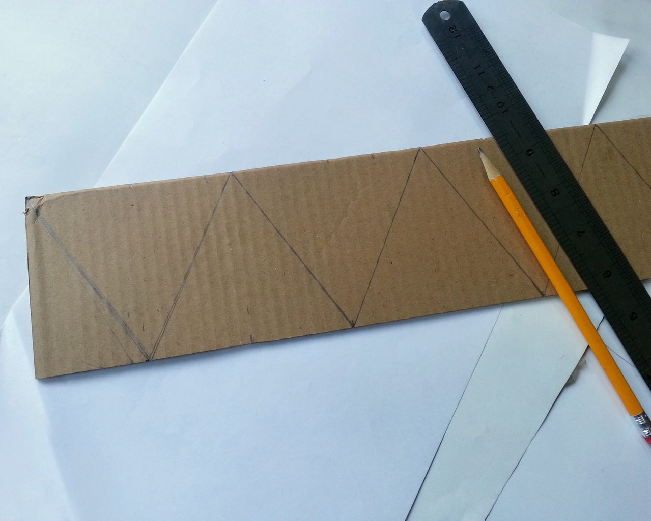 Drawing and Cutting Pattern for Basket