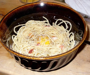 Four Ingredient Carbonara (bacon and Eggs Pasta)