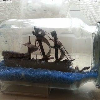 Black Pearl Pirate Ship in a Bottle
