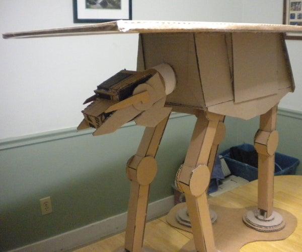 Cardboard  AT-AT Walker Table