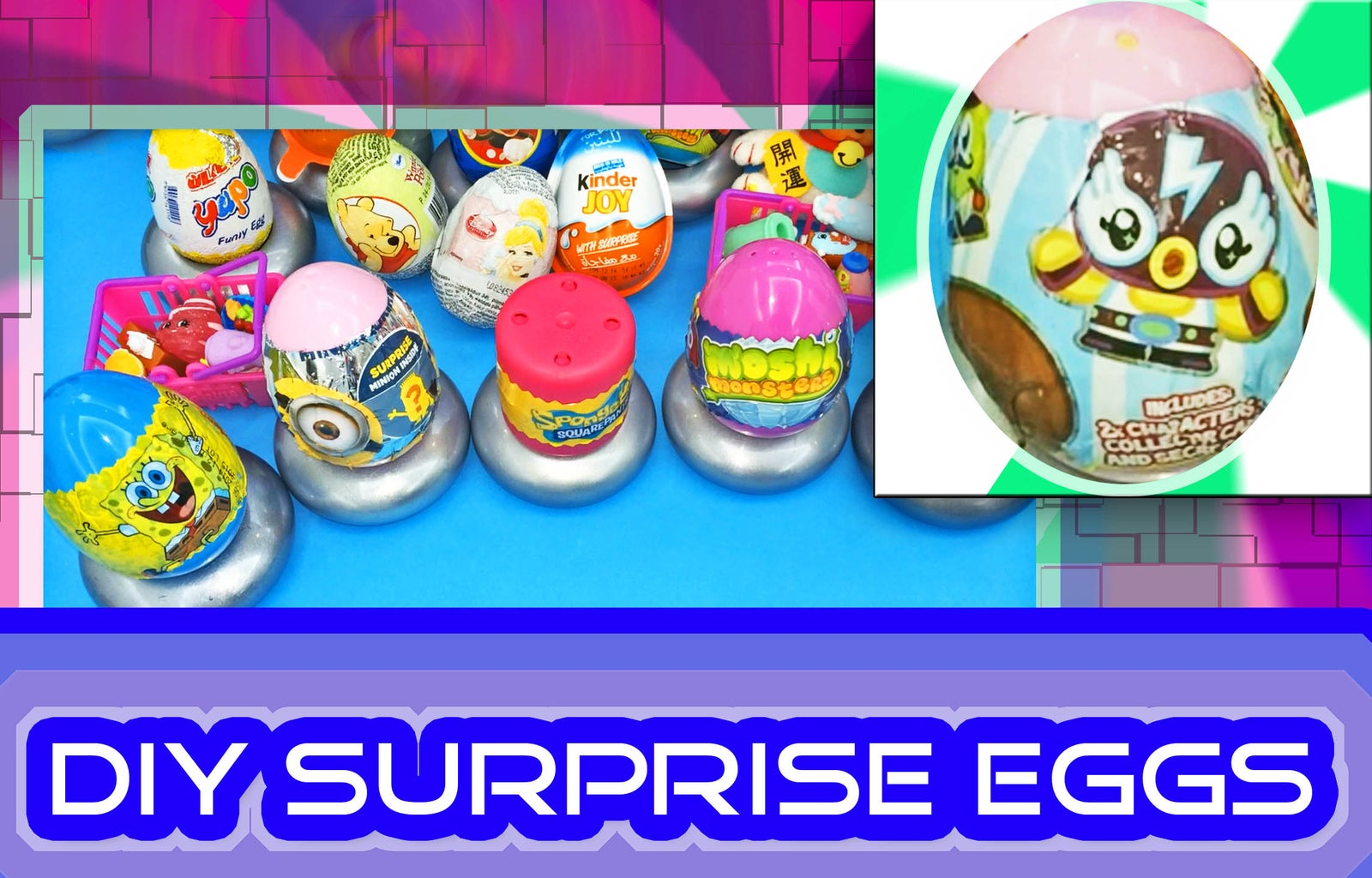 DIY How to Make Surprise Eggs Using Candy / Toy Wrappers