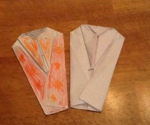 Origami Chinese Man