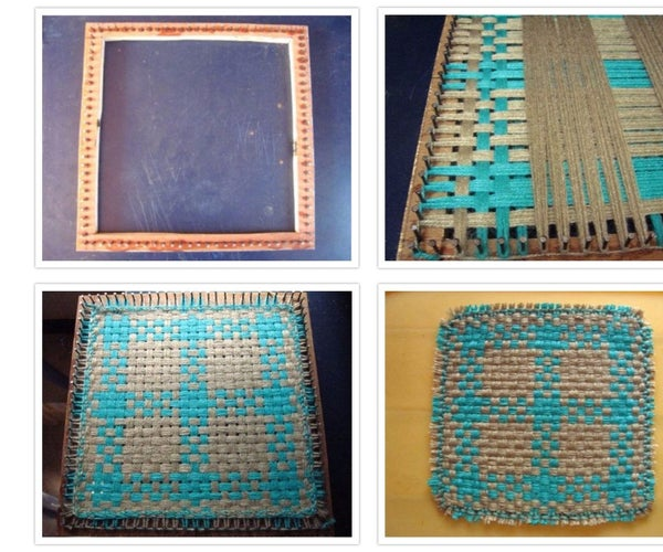 How to Make a Small Weaving Loom at Home