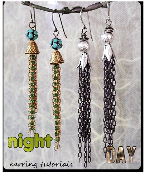 Day & Night Tassel Earrings