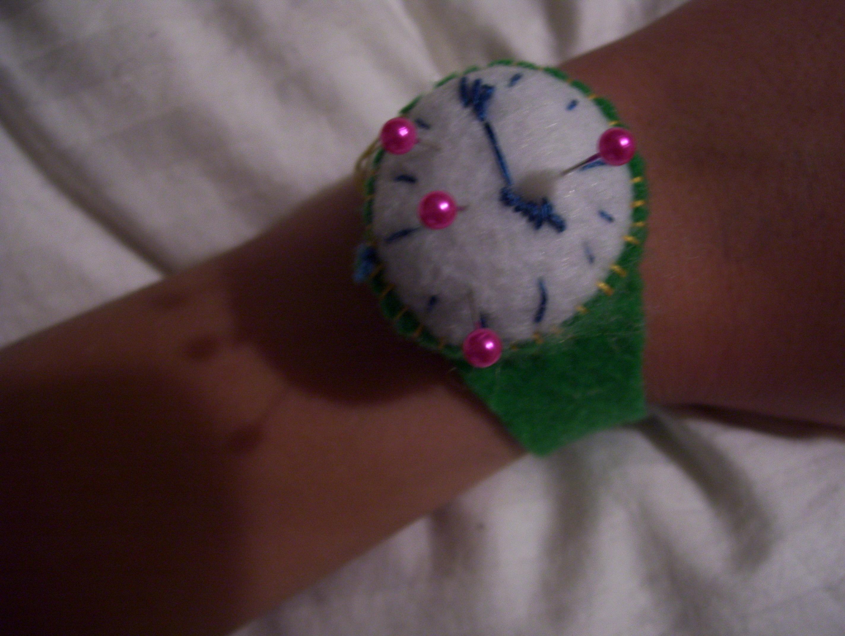 Wrist-watch pin cushion