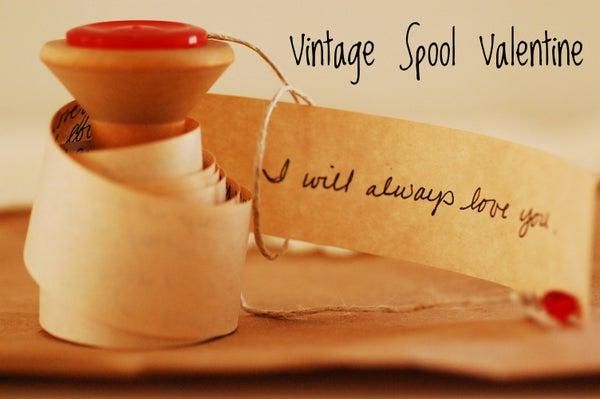 Vintage Spool Valentine DIY