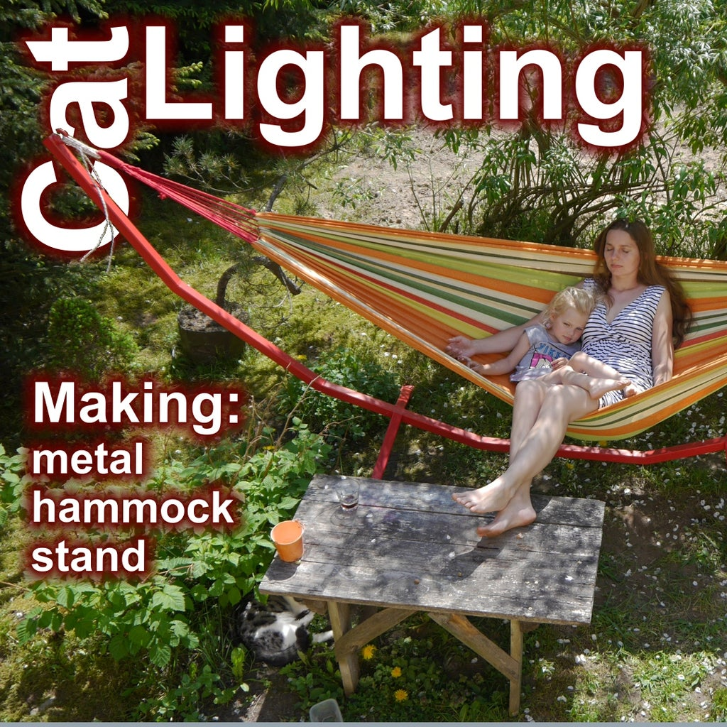 Metal Hammock Stand - Easy to Make With Limited Tools.