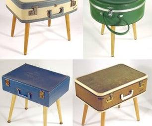 Retro Suitcase Stool