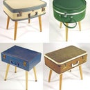 Retro Suitcase Stool