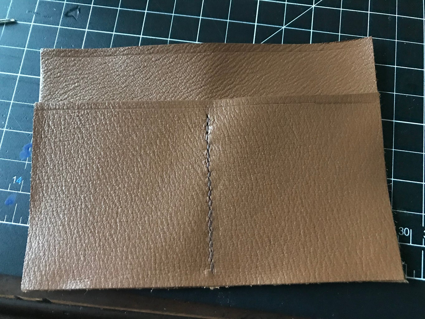 Stitch the Cardholder to the Lower Card Holder
