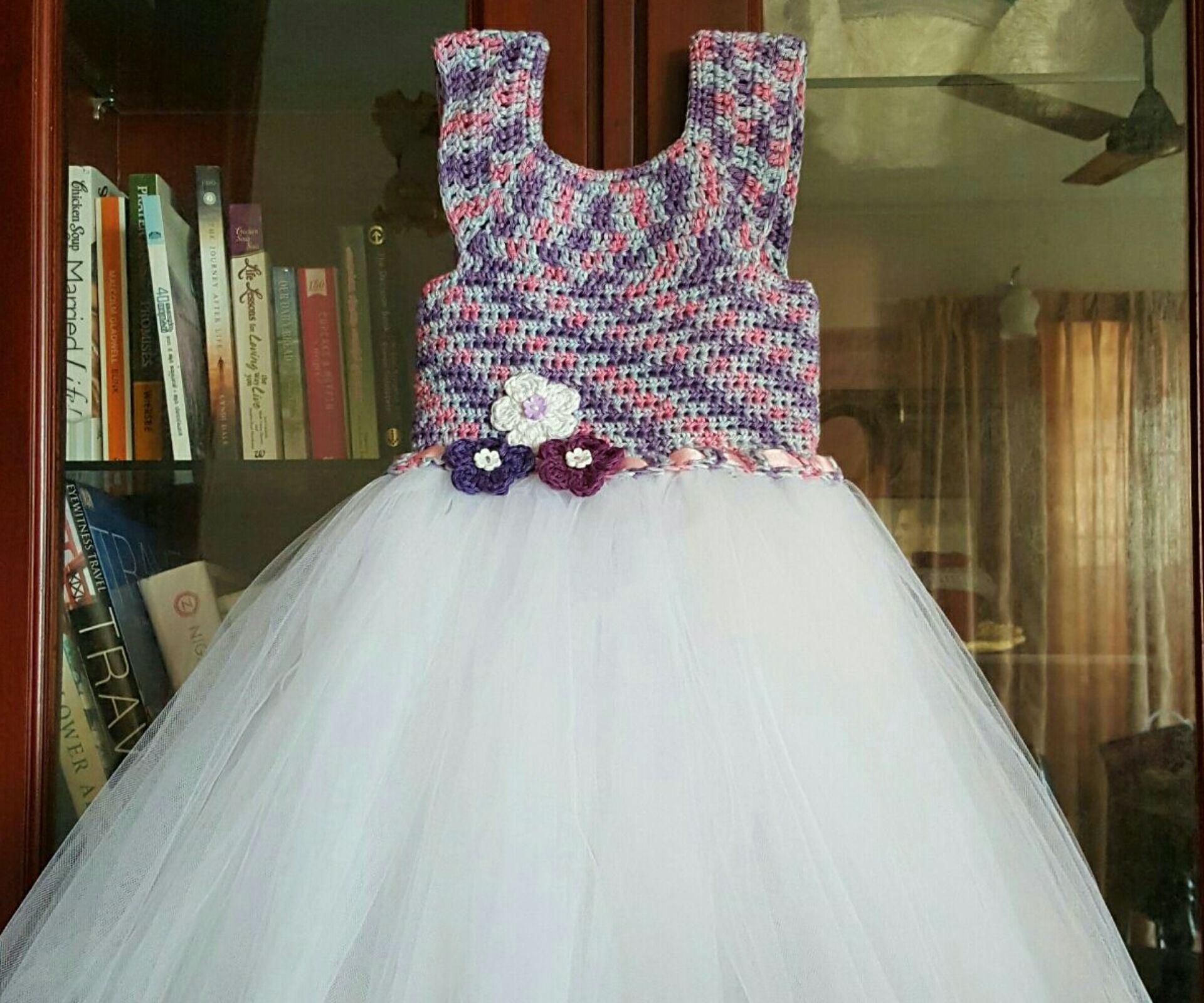 Purple Love Crochet Tutu dress
