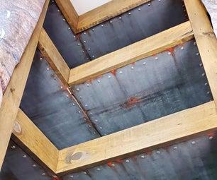 Corner Floating Shelves - Industrial Style