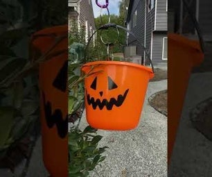 Flying Pumpkin Candy ZIpline for Social Distancing Halloween Trick or Treating
