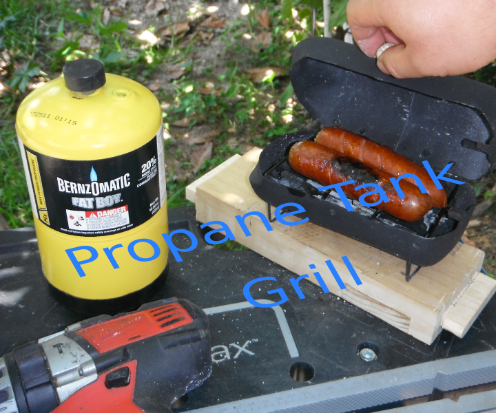 Mini Grill From Propane Tank Recycled / Mini Parrilla De Un Tanque De Propano Reciclado