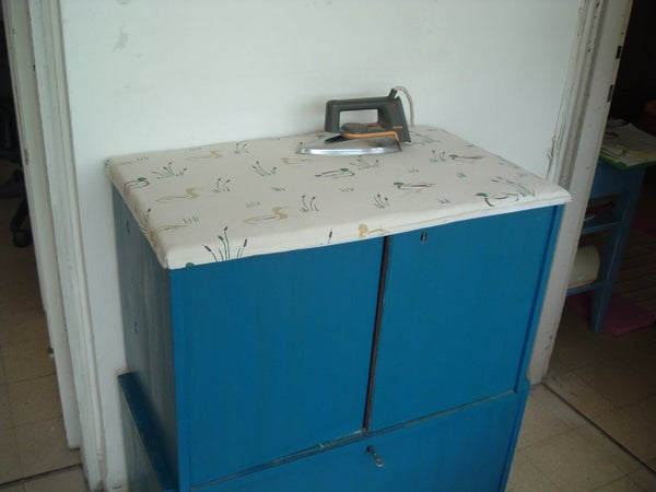 Removable Ironing-board Top (on a Cabinet)