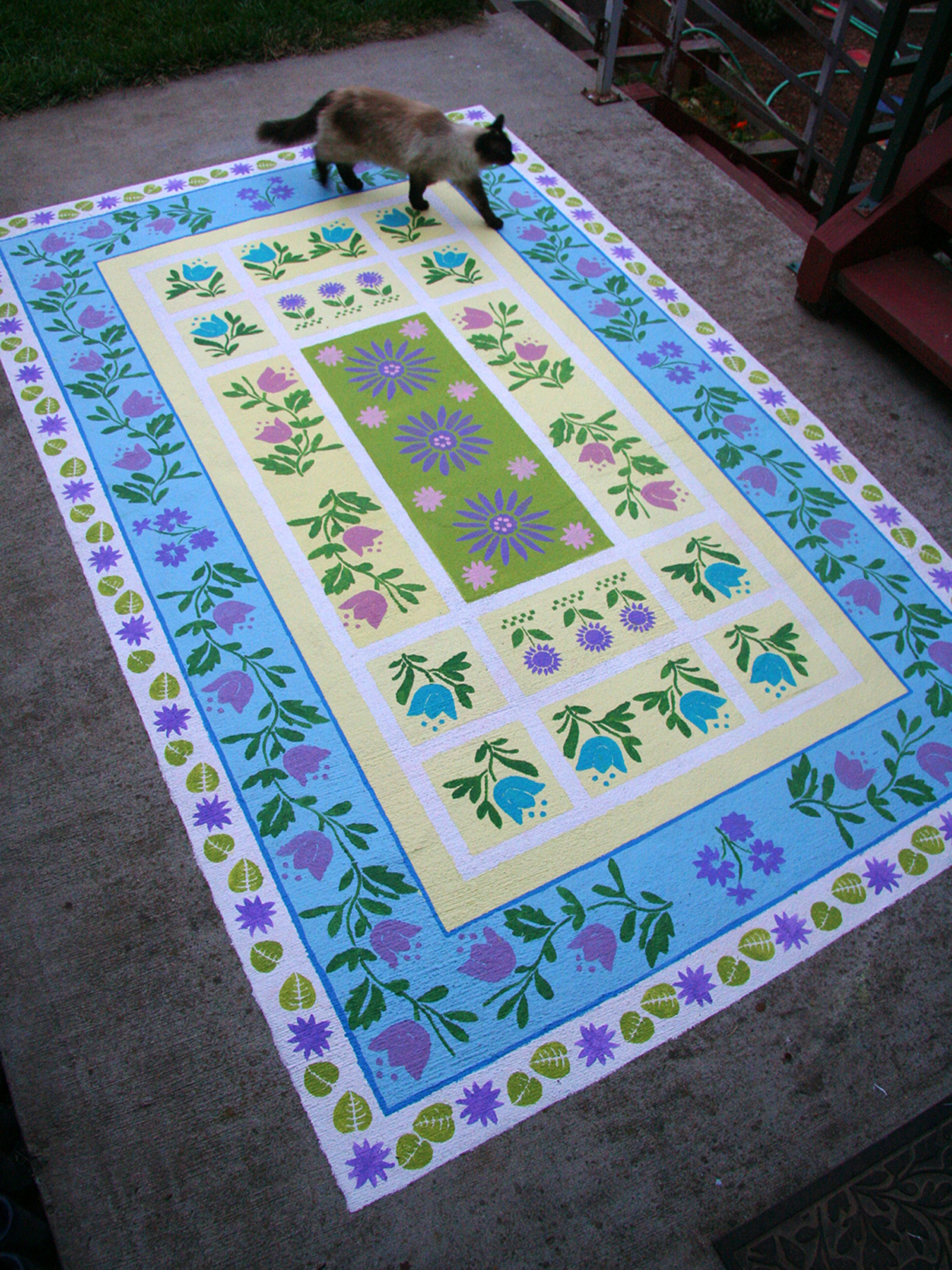 Paint a Concrete Rug