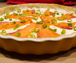 Smoked Salmon and Cream Cheese Pizza Made Easy