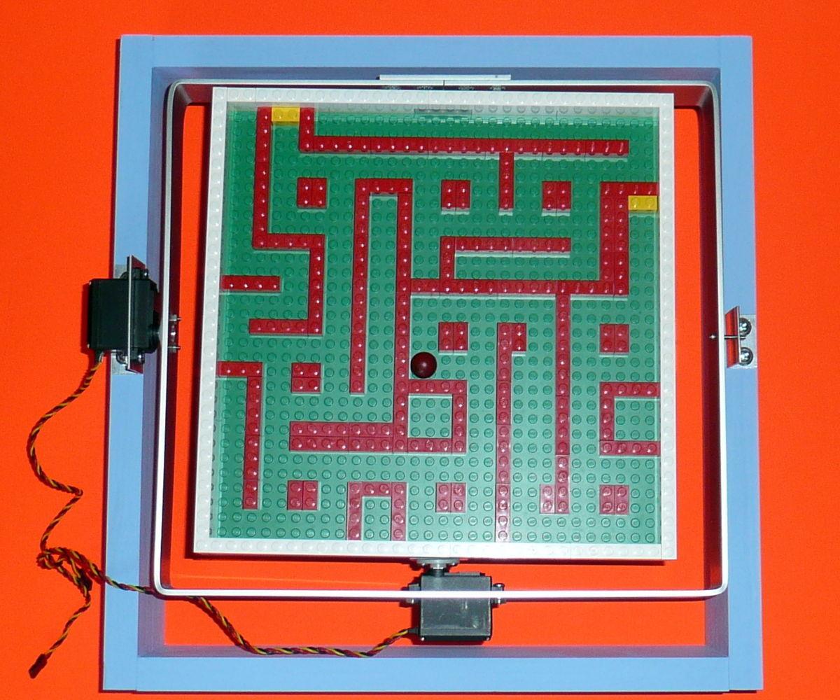 Servo Controlled Marble Maze Build 2