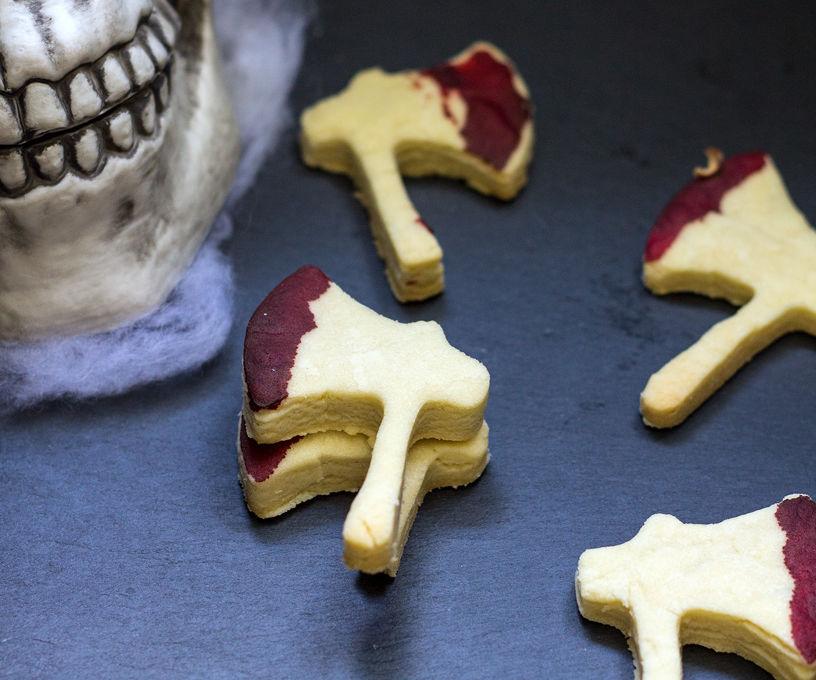 3 Ingredient Halloween Hatchet Cookies