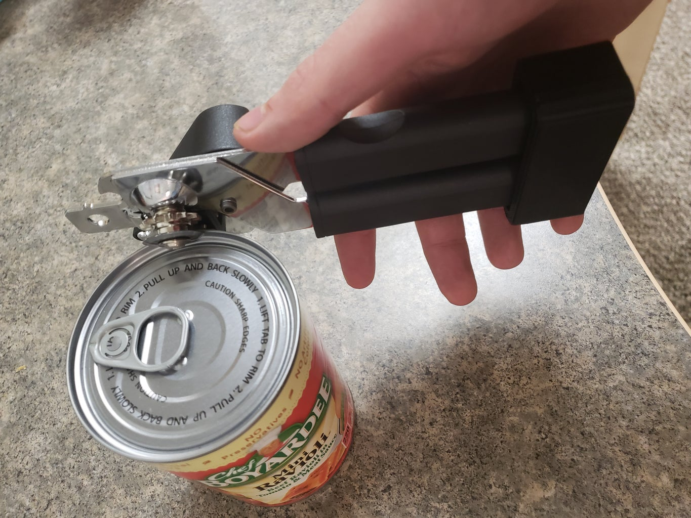 Begin Opening Can