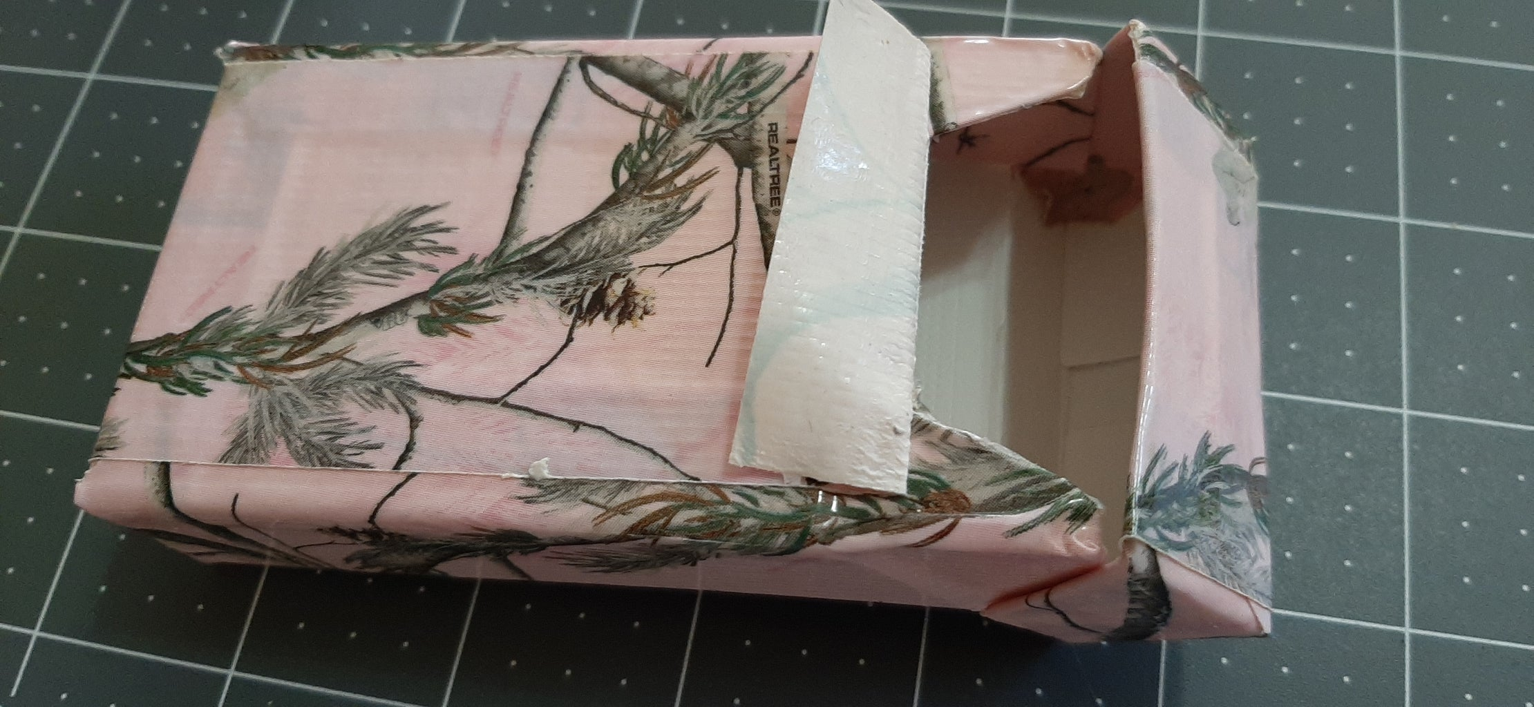 Applying Decorative Tape to Front and Back: