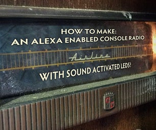Alexa启用控制台收音机与声音激活led