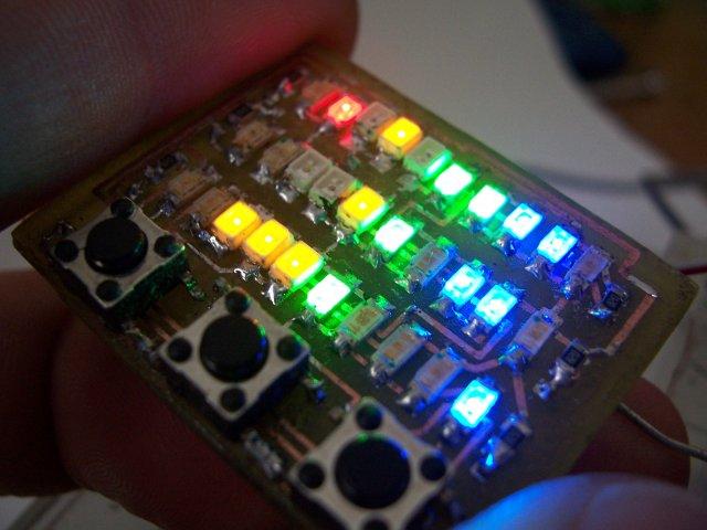 Microdot - wrist watch LED pattern timepiece