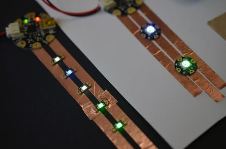 Sewing the LED Sequins