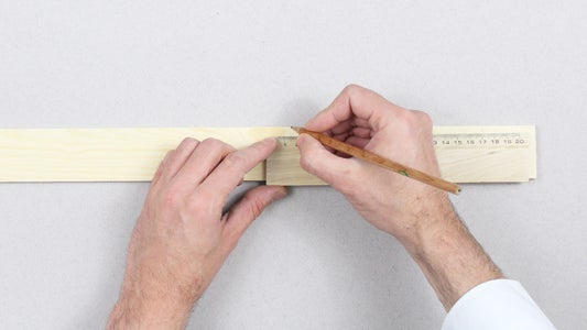 Measure the Planed Dowel to Have 2 Pieces of 25 Cm and 2 of 50 Cm.
